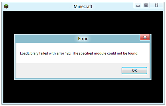 LoadLibrary failed with error 126